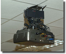 projector and wireless mounted